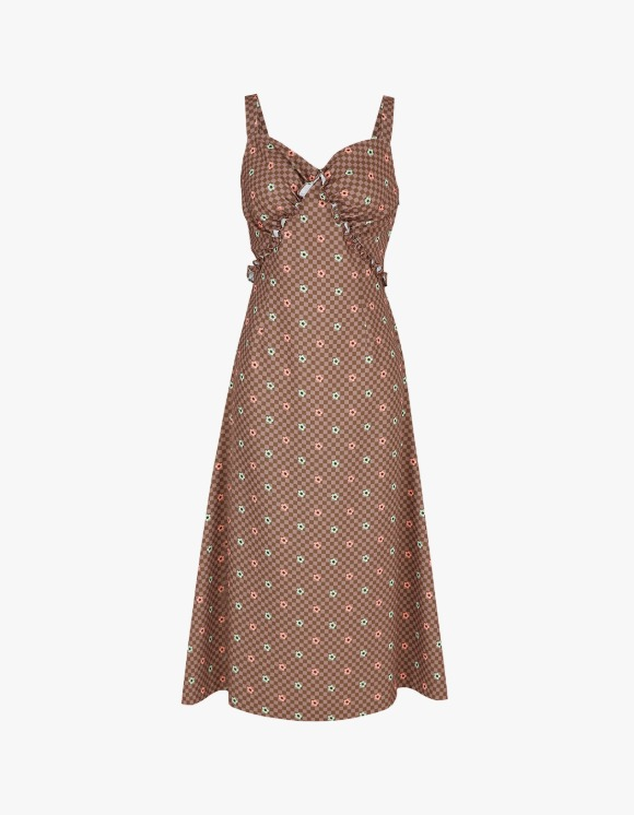Margarin Fingers Cookie Flower Dress - Brown | HEIGHTS. | 하이츠 온라인 스토어