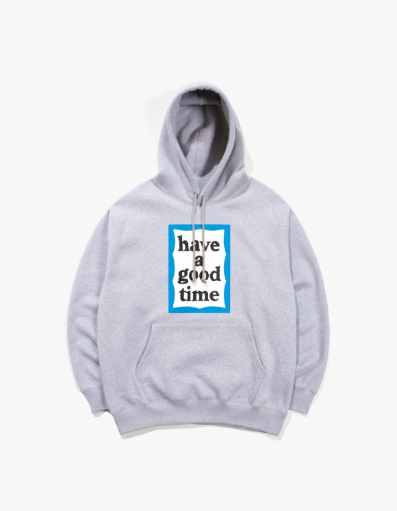 have a good time Blue Frame Pullover Hoodie - Heather Gray | HEIGHTS. | 하이츠 온라인 스토어