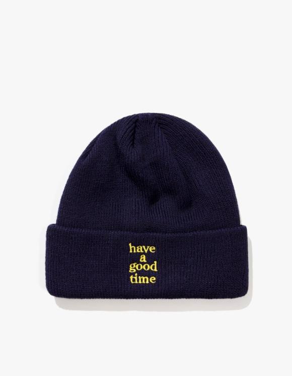 have a good time Logo Beanie - Navy | HEIGHTS. | 하이츠 온라인 스토어