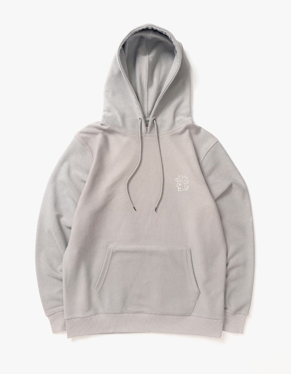 Victoria Hong Kong Reverse Terry Hoodie - Heather Grey | HEIGHTS. | 하이츠 온라인 스토어