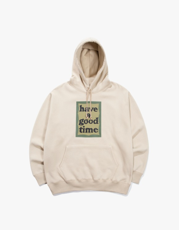 have a good time Military Frame Pullover Hoodie - Miltary Beige | HEIGHTS. | 하이츠 온라인 스토어