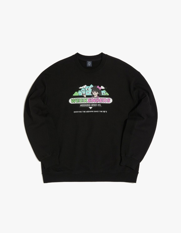 WKNDRS Sweet 90's Sweat Shirt - Black | HEIGHTS. | 하이츠 온라인 스토어
