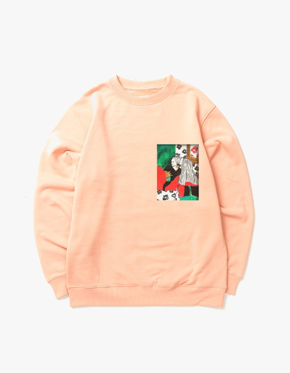 Victoria Hong Kong Two Ladies Crewneck - Peach | HEIGHTS. | 하이츠 온라인 스토어