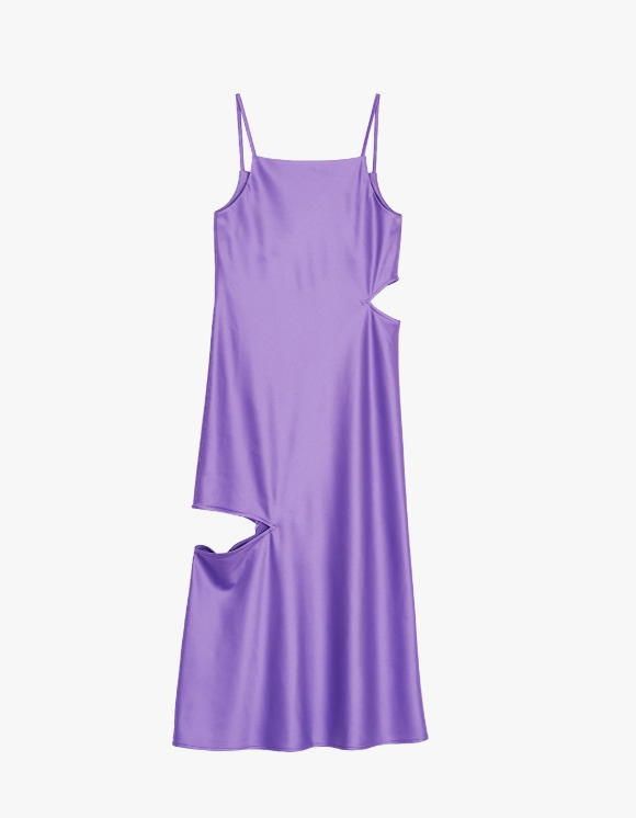 Media(82) Cutout Slip Dress - Purple | HEIGHTS. | 하이츠 온라인 스토어