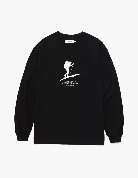 Club Activity Weekend Hiking Club Long Sleeves - Black | HEIGHTS. | 하이츠 온라인 스토어