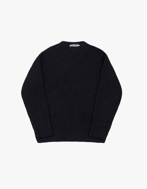 Technophobe TNT Crew Neck Yak Sweater - Navy | HEIGHTS. | 하이츠 온라인 스토어