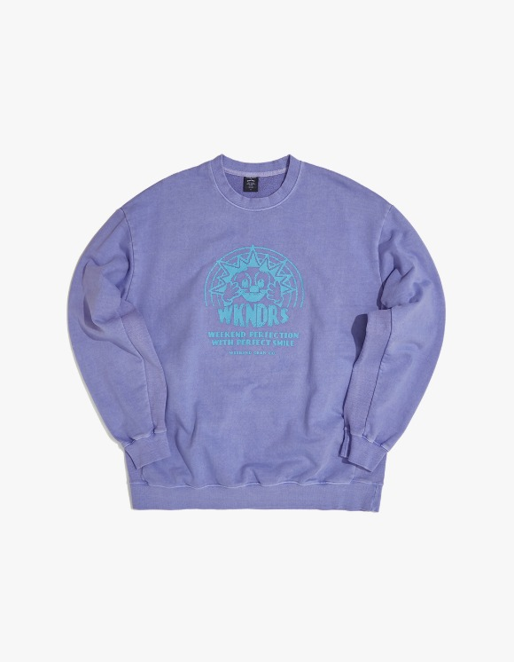 WKNDRS Smile Sweat Shirt - L.Purple | HEIGHTS. | 하이츠 온라인 스토어