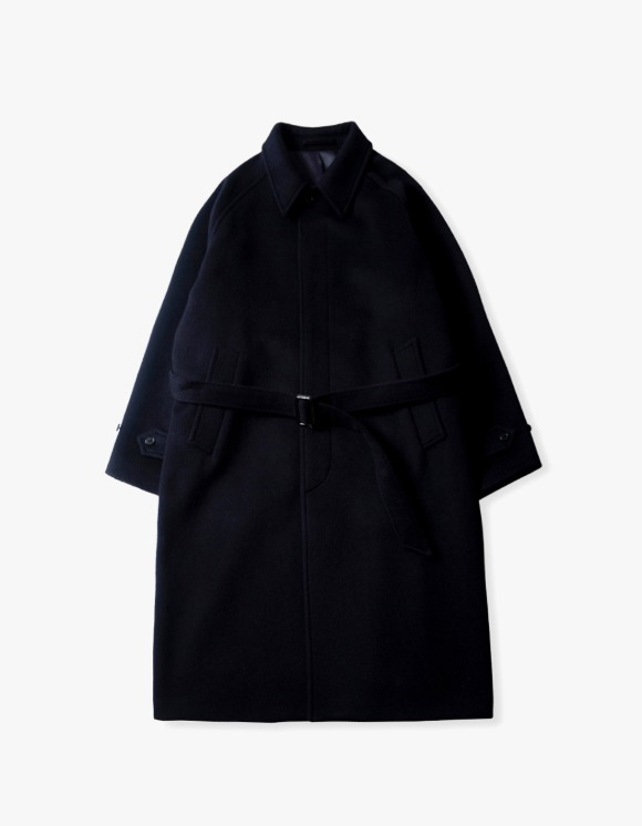 Brown Yard Balmacaan Coat - Dark Navy | HEIGHTS. | 하이츠 온라인 스토어