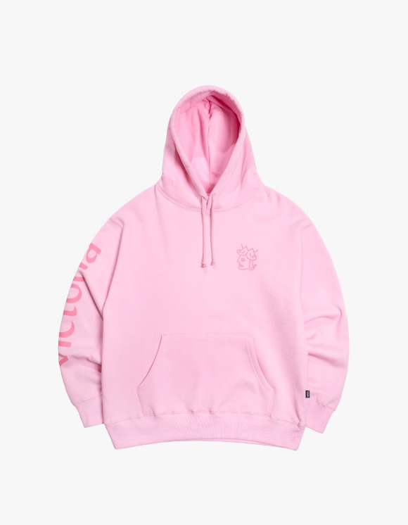 Victoria Hong Kong Queen Head Tonal Logo Hoodie - Pink | HEIGHTS. | 하이츠 온라인 스토어