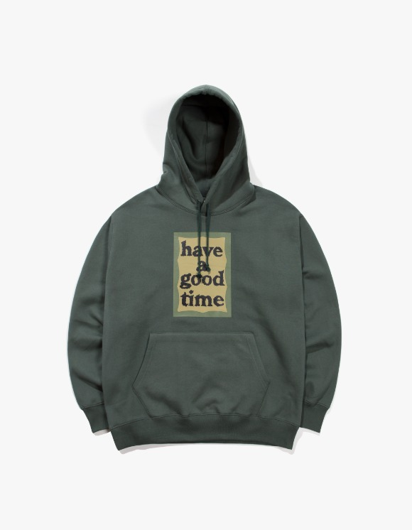 have a good time Military Frame Pullover Hoodie - Miltary Green | HEIGHTS. | 하이츠 온라인 스토어