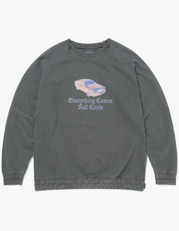 thisisneverthat Old Car Crewneck - Charcoal | HEIGHTS. | 하이츠 온라인 스토어
