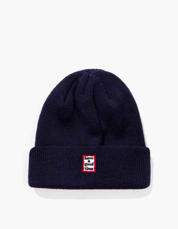 have a good time Mini Mini Frame Beanie - Navy | HEIGHTS. | 하이츠 온라인 스토어