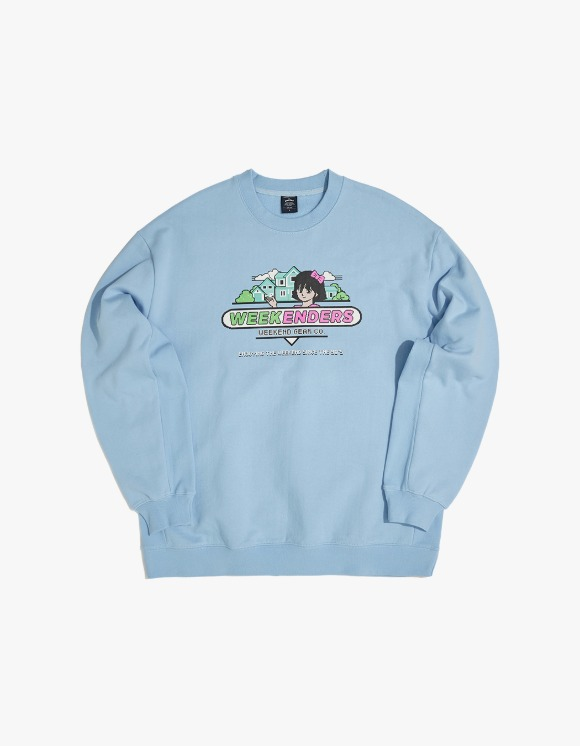 WKNDRS Sweet 90's Sweat Shirt - S.Blue | HEIGHTS. | 하이츠 온라인 스토어