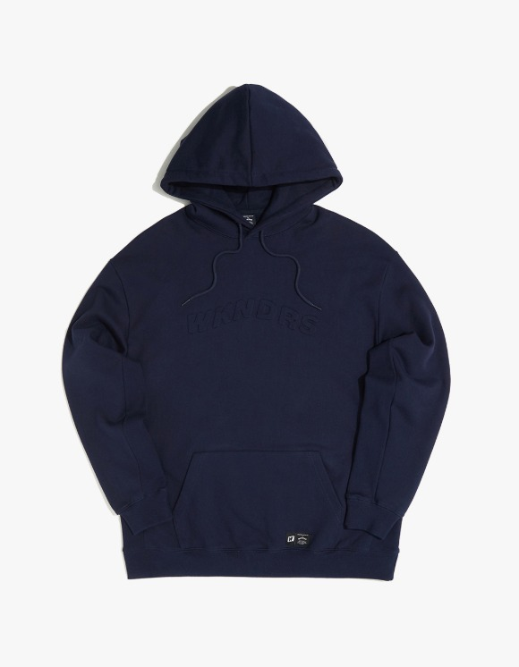 WKNDRS Embossed Logo Hoodie - Navy | HEIGHTS. | 하이츠 온라인 스토어