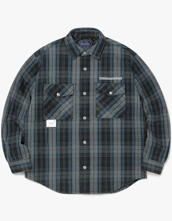 thisisneverthat Quilted Flannel Shirt - Blue/Gray | HEIGHTS. | 하이츠 온라인 스토어