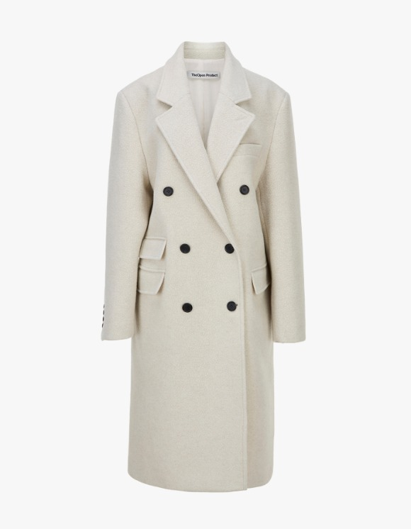 TheOpen Product Winter Double-Breasted Wool Coat - Ivory | HEIGHTS. | 하이츠 온라인 스토어
