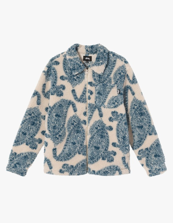 Stussy Big Paisley Full Zip Sherpa - Natural | HEIGHTS. | 하이츠 온라인 스토어