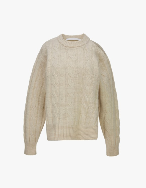 TheOpen Product Cable Knit Top - Cream | HEIGHTS. | 하이츠 온라인 스토어
