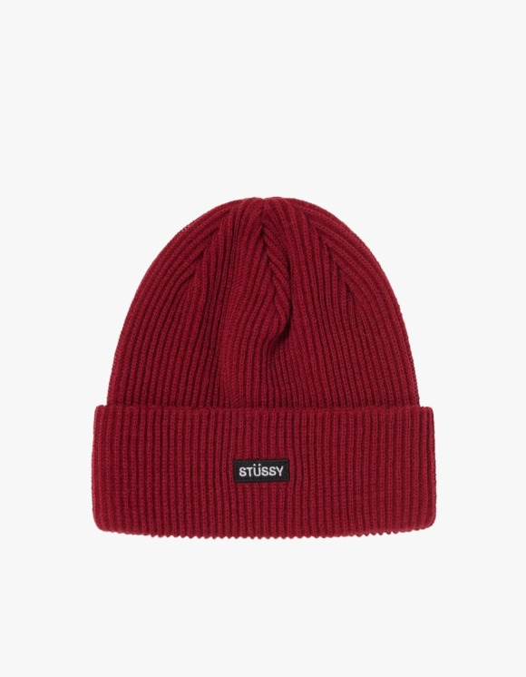 Stussy Small Patch Watch Cap Beanie - Cardinal | HEIGHTS. | 하이츠 온라인 스토어