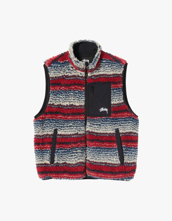 Stussy Striped Sherpa Vest - Multi | HEIGHTS. | 하이츠 온라인 스토어