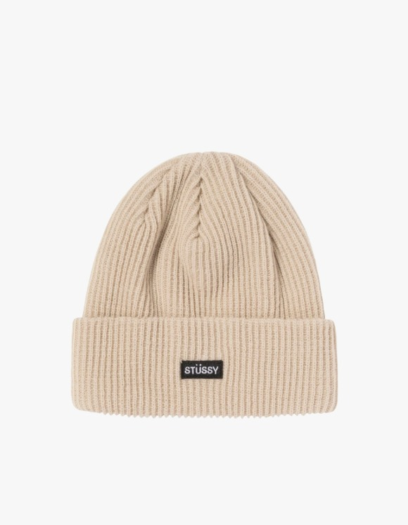 Stussy Small Patch Watch Cap Beanie - Sand | HEIGHTS. | 하이츠 온라인 스토어