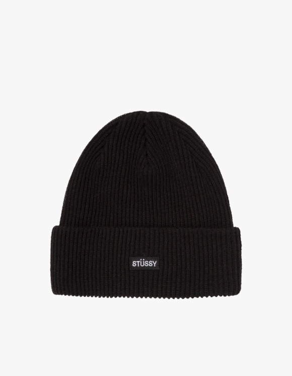 Stussy Small Patch Watch Cap Beanie - Black | HEIGHTS. | 하이츠 온라인 스토어