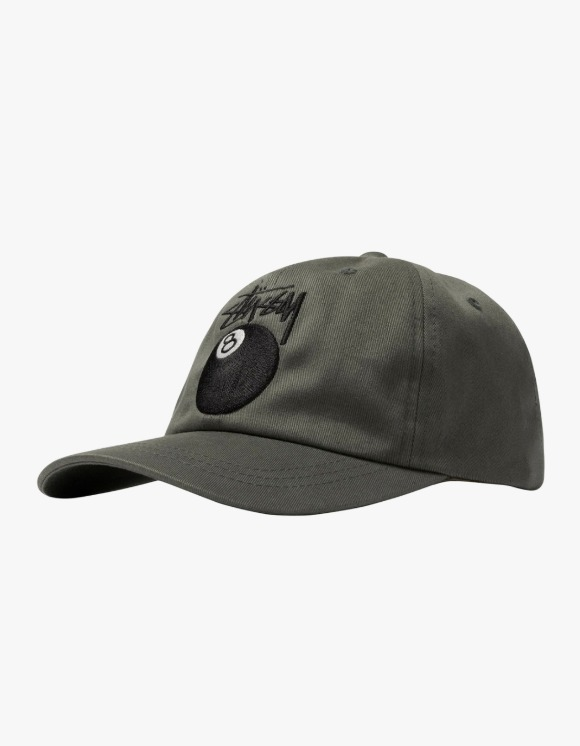 Stussy Stock 8 Ball Low Pro Cap - Olive | HEIGHTS. | 하이츠 온라인 스토어