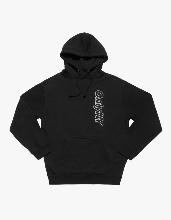 Only NY Core Logo Outline Hoodie - Black | HEIGHTS. | 하이츠 온라인 스토어