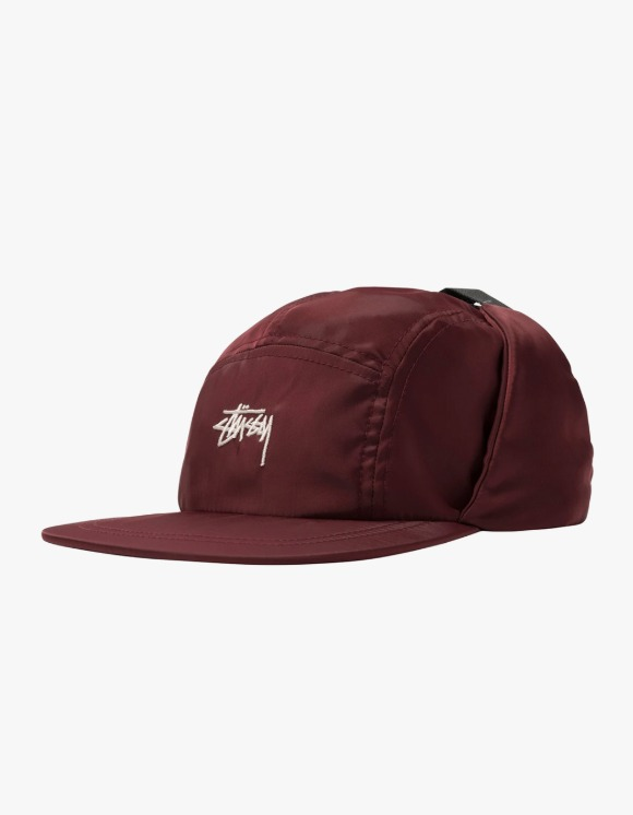 Stussy Stock Ear Flap Camp Cap - Burgundy | HEIGHTS. | 하이츠 온라인 스토어