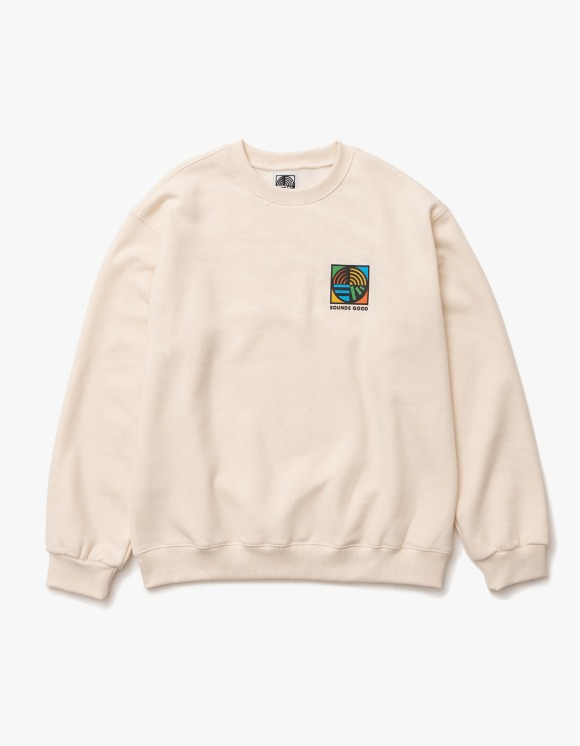 sounds good! SG Symbol Crewneck - Cream | HEIGHTS. | 하이츠 온라인 스토어