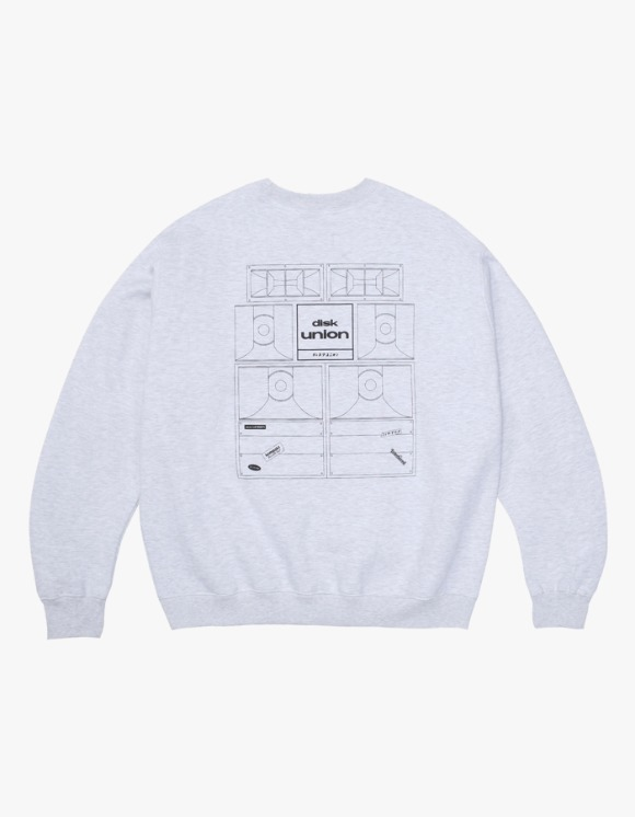 Kompakt Record Bar Sound Bombing Crewneck - Ash Grey | HEIGHTS. | 하이츠 온라인 스토어