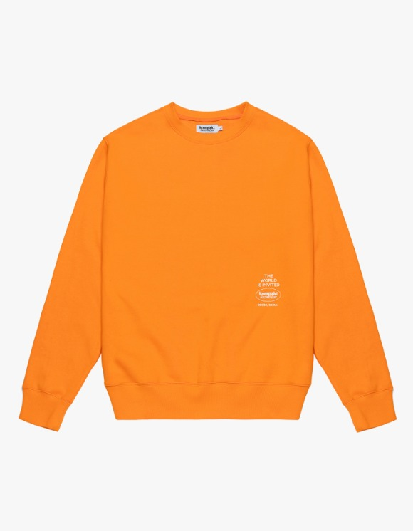 Kompakt Record Bar The World Invited Crewneck - Orange | HEIGHTS. | 하이츠 온라인 스토어