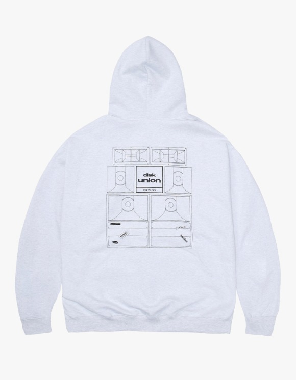 Kompakt Record Bar Sound Bombing Hoodie - Ash Grey | HEIGHTS. | 하이츠 온라인 스토어