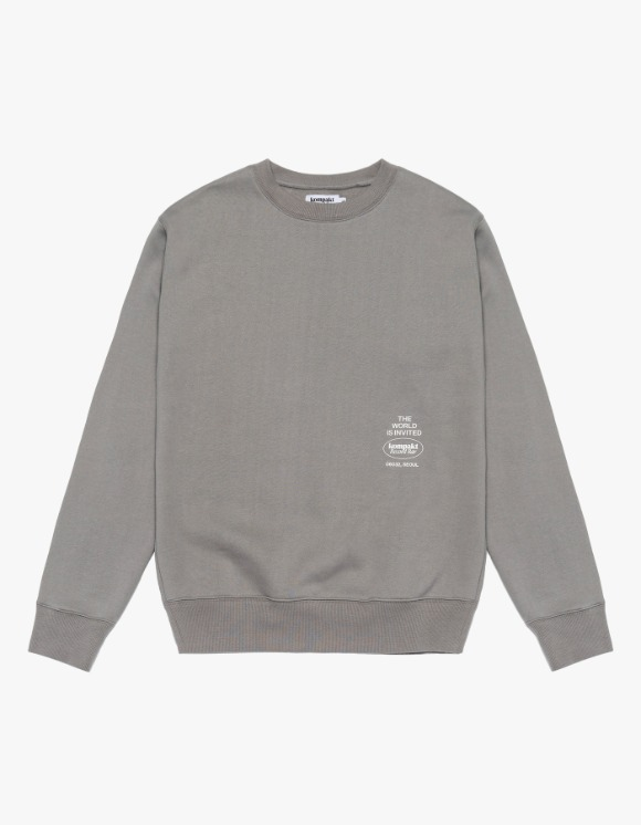 Kompakt Record Bar Original Logo Crewneck - Grey | HEIGHTS. | 하이츠 온라인 스토어