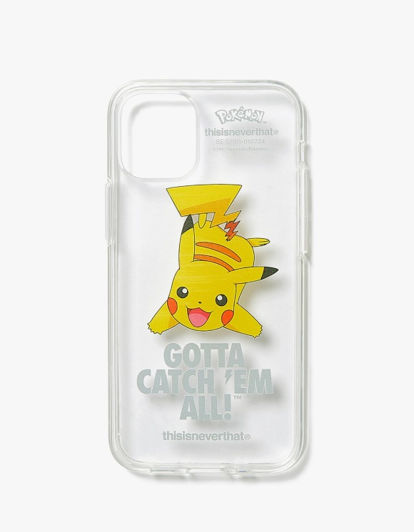 thisisneverthat PKM Pikachu iPhone Case - Clear | HEIGHTS. | 하이츠 온라인 스토어