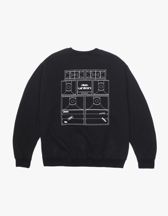 Kompakt Record Bar Sound Bombing Crewneck - Black | HEIGHTS. | 하이츠 온라인 스토어
