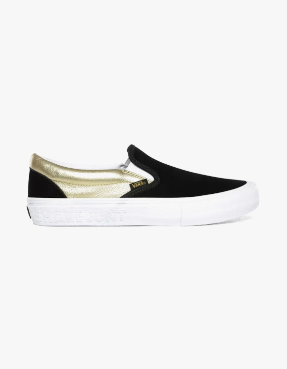 Vans Vans X Shake Junt Slip-on Pro - Black/Gold | HEIGHTS. | 하이츠 온라인 스토어