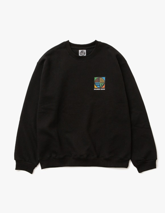 sounds good! SG Symbol Crewneck - Black | HEIGHTS. | 하이츠 온라인 스토어