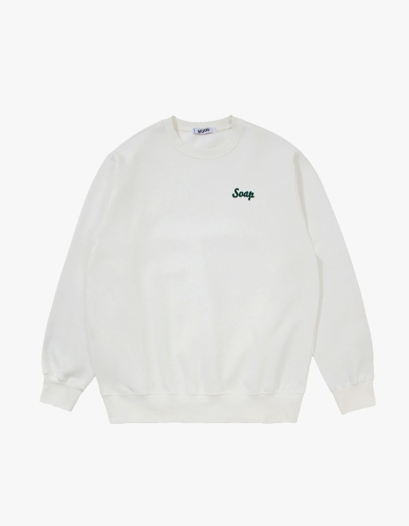 Soap Blue Light Sweatshirts – Ivory | HEIGHTS. | 하이츠 온라인 스토어