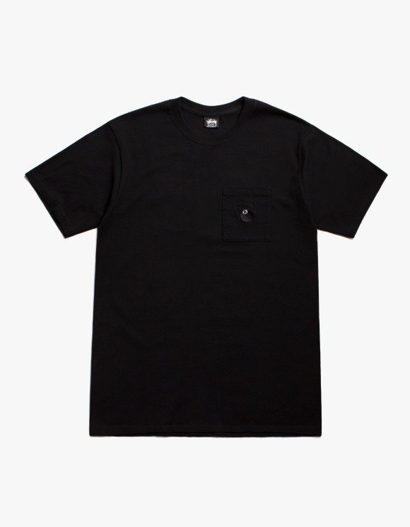 Stussy 8 Ball Pocket Crew - Black | HEIGHTS. | 하이츠 온라인 스토어