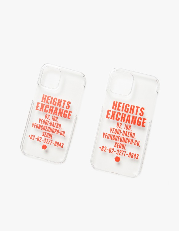 Heights. Exchange Exchange iPhone 12 Case - Clear | HEIGHTS. | 하이츠 온라인 스토어