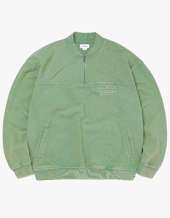 thisisneverthat Washed Half Zip Pullover - Green | HEIGHTS. | 하이츠 온라인 스토어