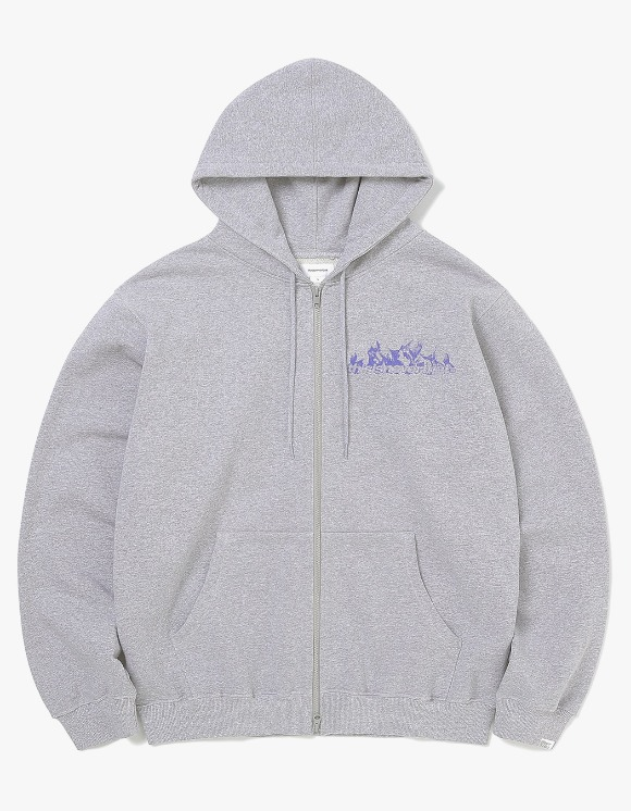 thisisneverthat Flame Zip Up Sweat - Heather Grey | HEIGHTS. | 하이츠 온라인 스토어