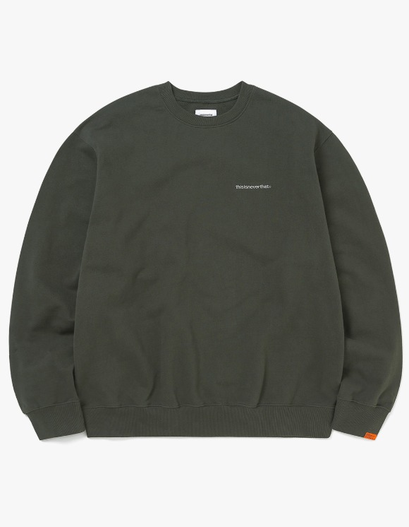 thisisneverthat Small T-Logo Crewneck - Dark Olive | HEIGHTS. | 하이츠 온라인 스토어