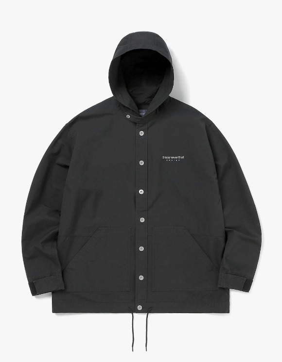 thisisneverthat L-Logo Hooded Shirt - black | HEIGHTS. | 하이츠 온라인 스토어