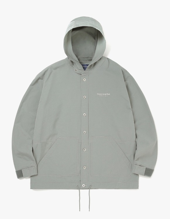 thisisneverthat L-Logo Hooded Shirt - Grey Green | HEIGHTS. | 하이츠 온라인 스토어