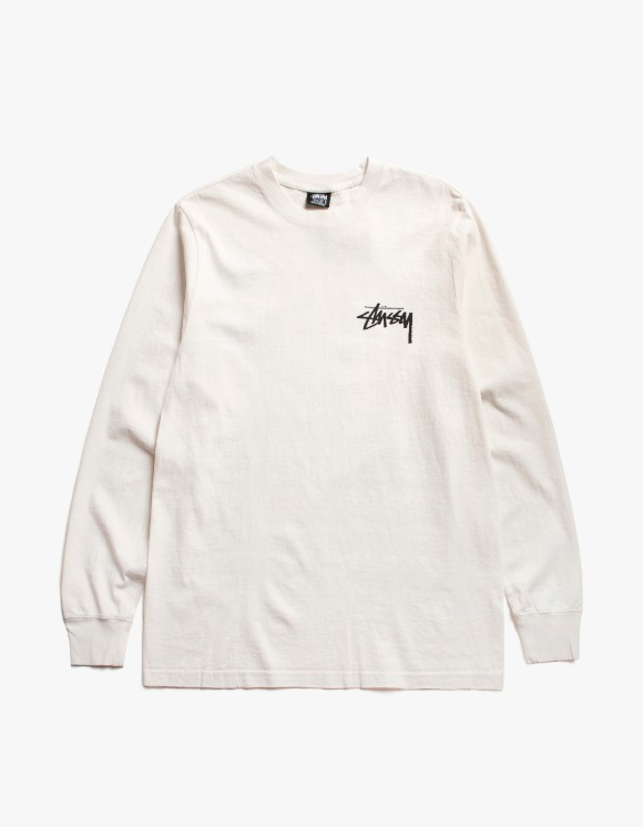 Stussy Spring Weeds Pig. Dyed L/S Tee - Natural | HEIGHTS. | 하이츠 온라인 스토어