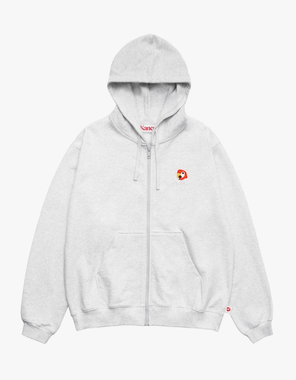 KANCO KANCO LOGO ZIP UP HOODIE melange gray | HEIGHTS. | 하이츠 온라인 스토어