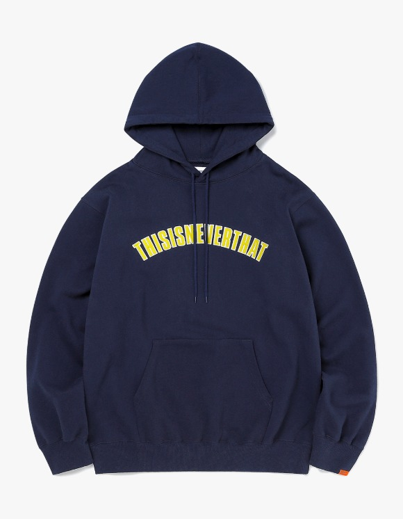 thisisneverthat NEW ARC Hooded Sweatshirt - Dark Navy | HEIGHTS. | 하이츠 온라인 스토어