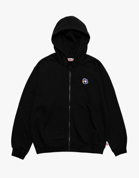 KANCO KANCO LOGO ZIP UP HOODIE black | HEIGHTS. | 하이츠 온라인 스토어